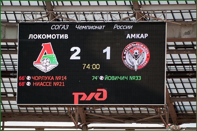 ФК Локомотив - ФК Амкар 3-58