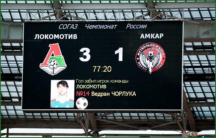 ФК Локомотив - ФК Амкар 3-65