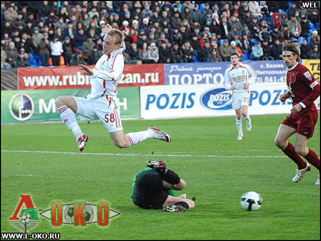 ФК Рубин Казань - ФК Локомотив Москва 1- 2.