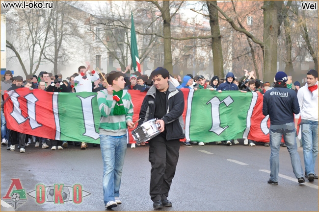 Марш фанатов Локо в Химках