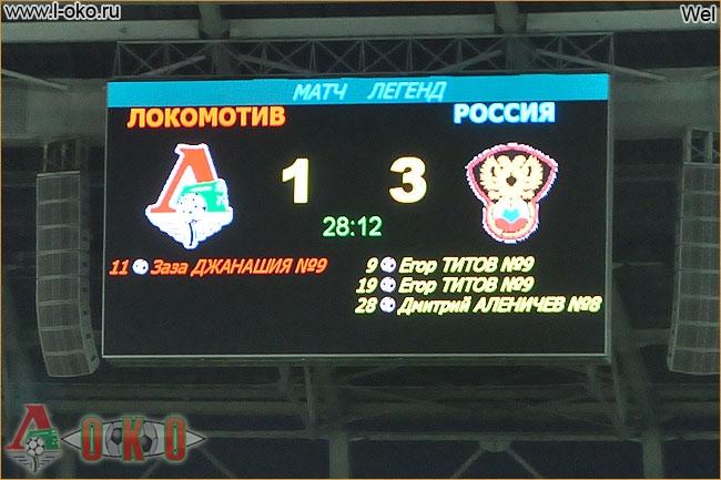 Матч Легенды Локомотива - Легенды сб. России  4-3