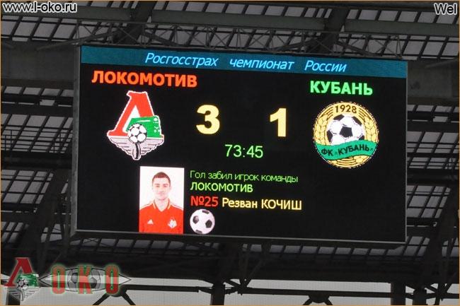 Локомотив - Кубань  4-1