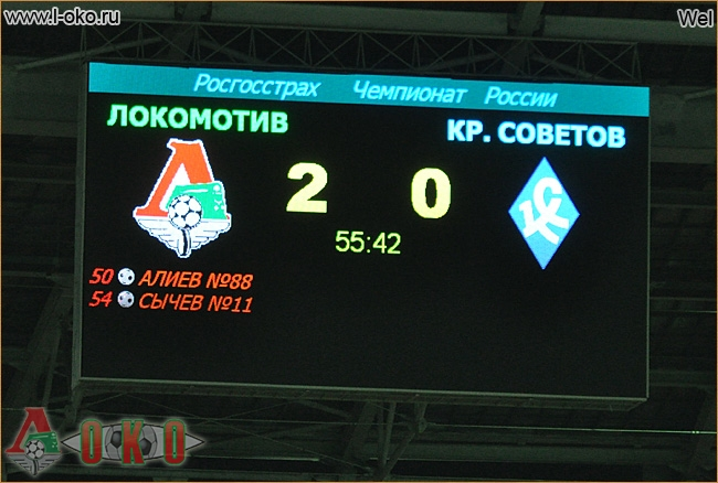 Локомотив - Крылья Советов 3-0