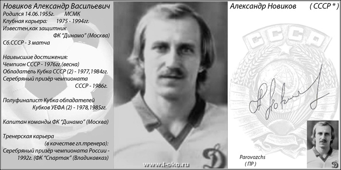 Автографы звезд советского футбола