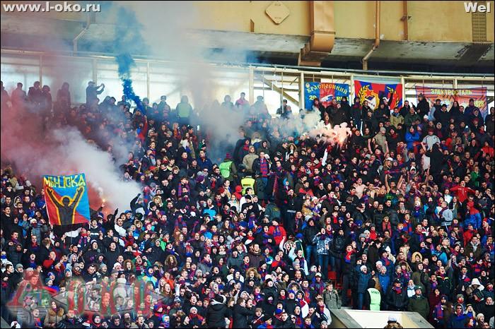 Фото с матча  ЦСКА - Локомотив