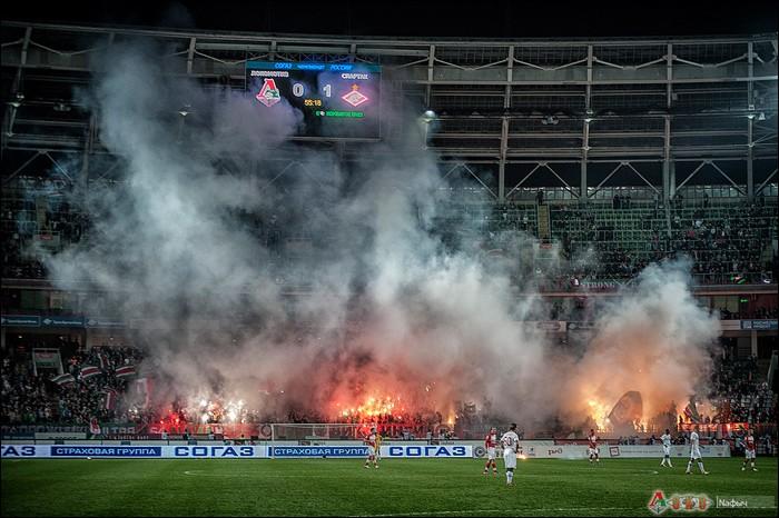 Фото с матча  Локомотив - Спартак Москва   2-1