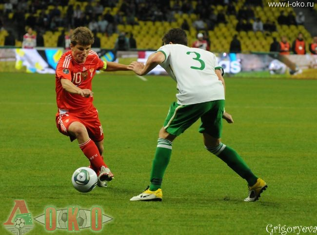 Сборная России - сборная Ирландии 0-0