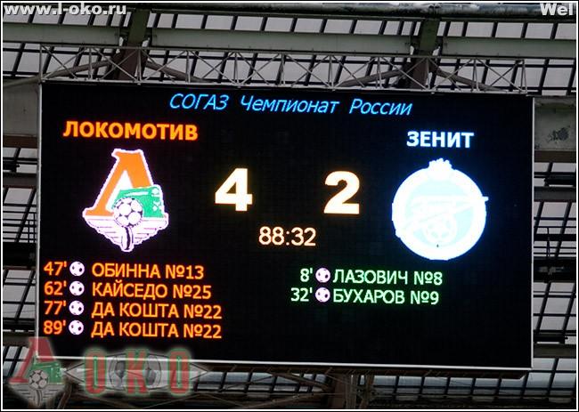 День в истории. Локомотив - Зенит 4:2